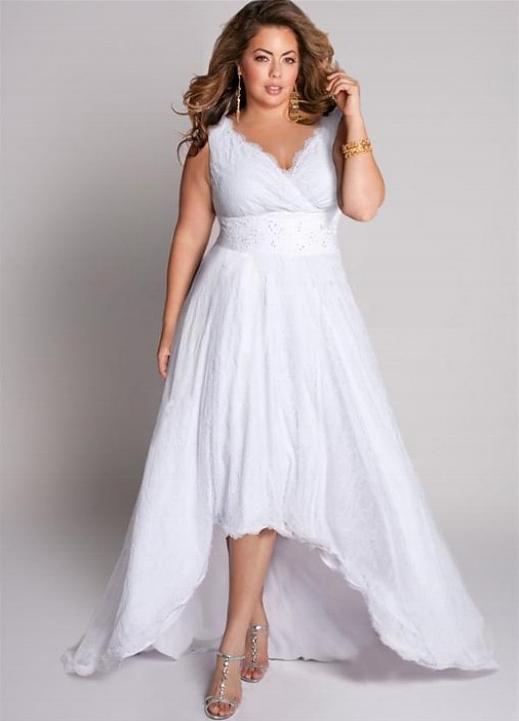 casual plus size wedding dress photo - 1