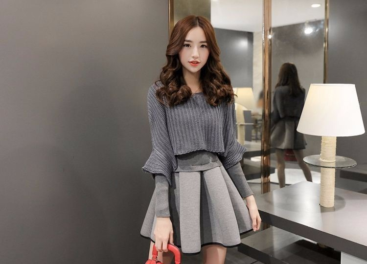 casual sweater dress photo - 1