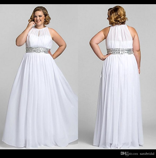 casual wedding dress plus size photo - 1