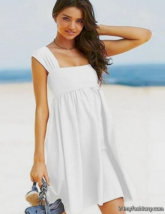 casual white dress for beach wedding photo - 1