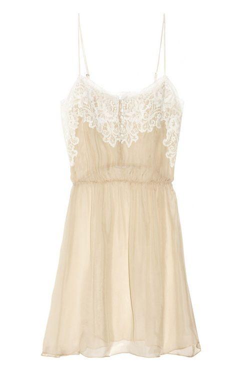 cream casual dress photo - 1