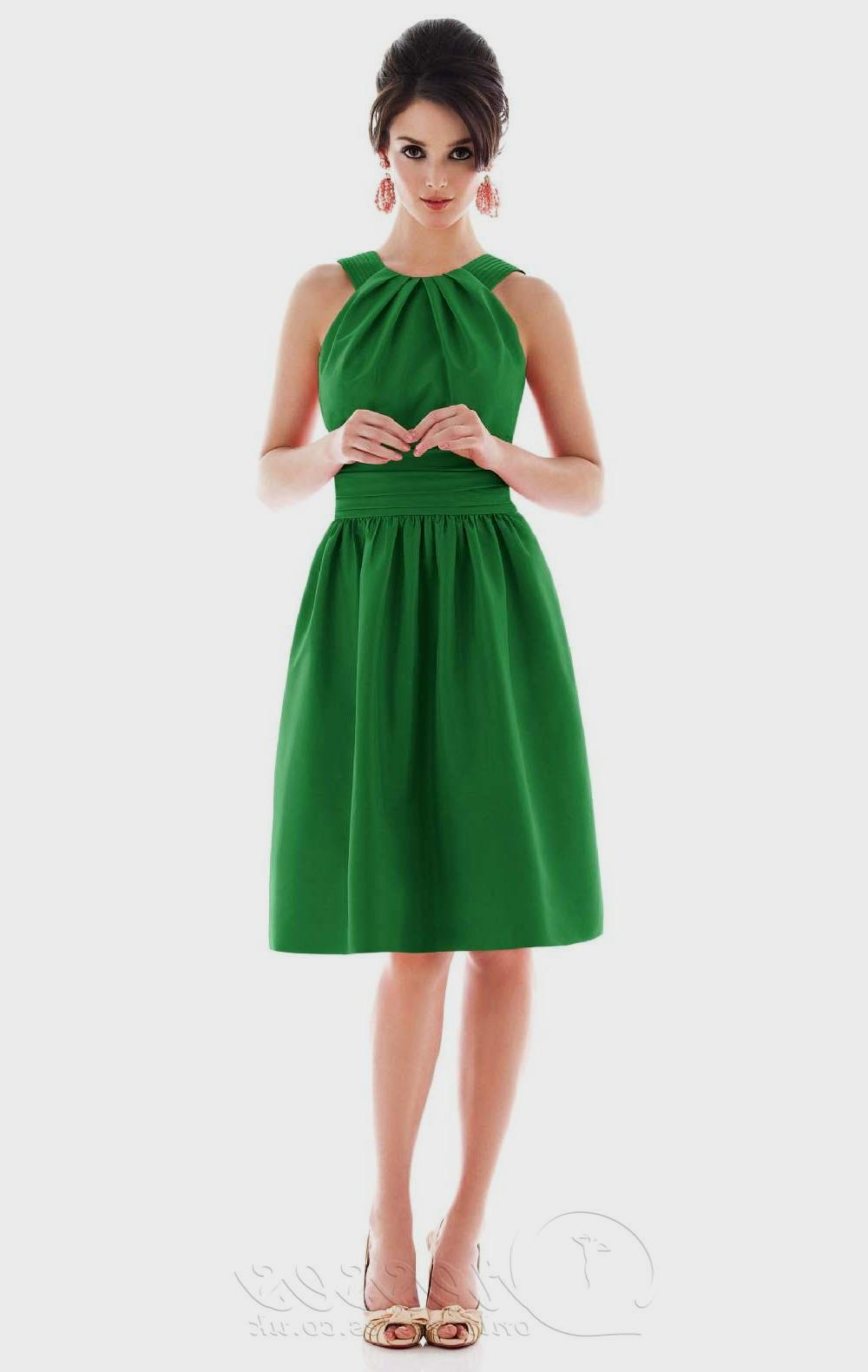 emerald green dress casual photo - 1