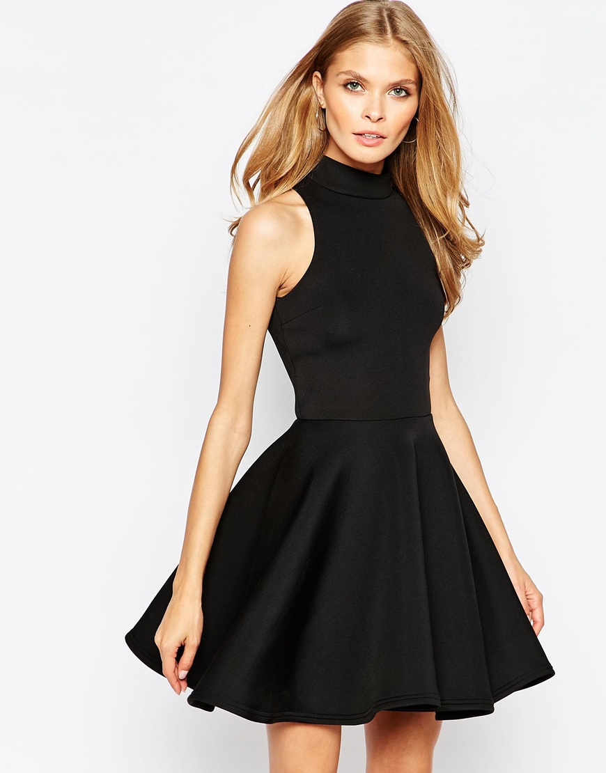high neck dress casual photo - 1