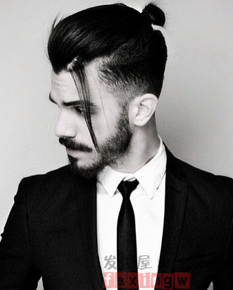 how to style mens long hair photo - 1