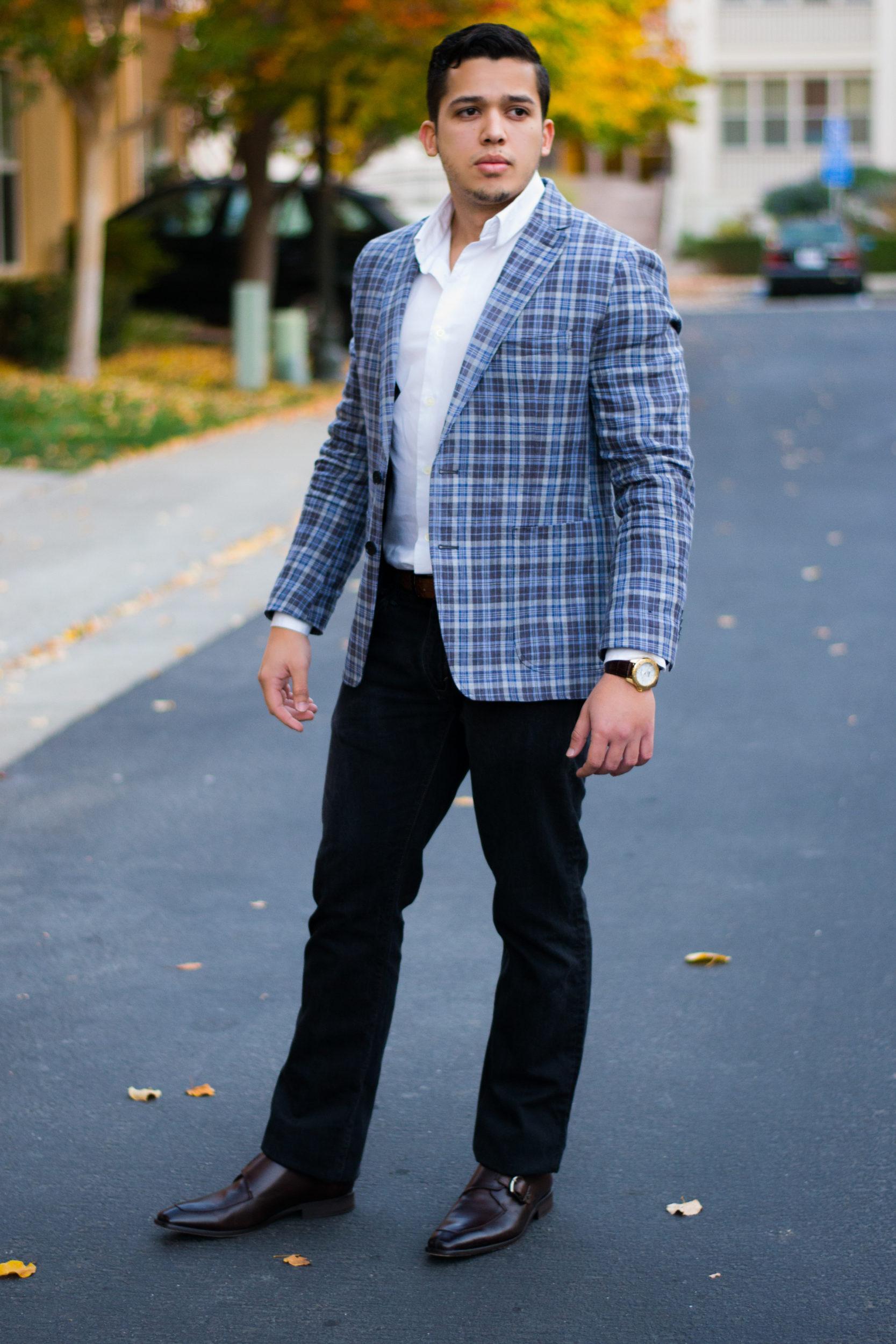 jeans blazer business casual photo - 1