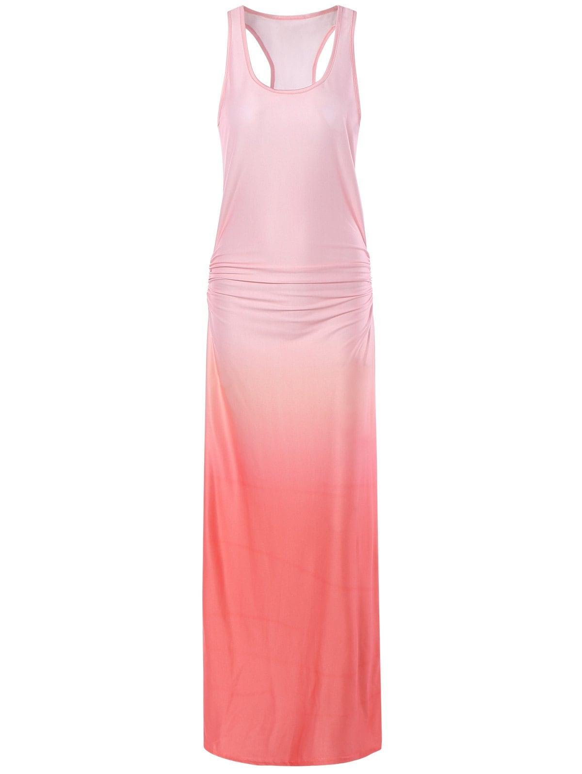 light pink casual dress photo - 1