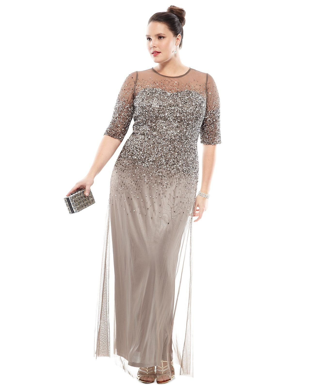 macys plus size formal dresses photo - 1
