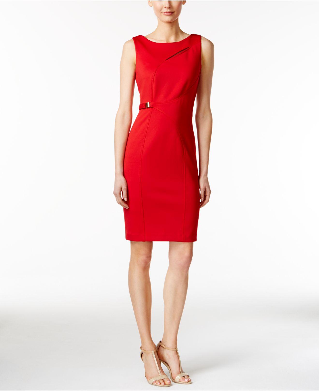 macys red dresses photo - 1