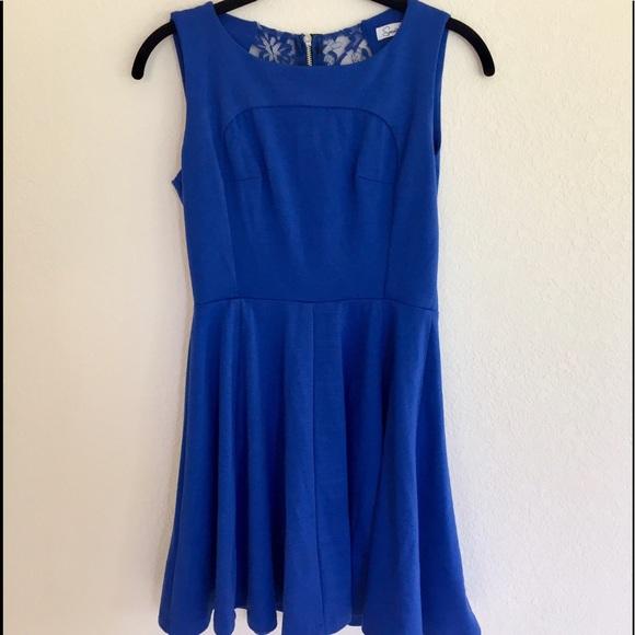 macys royal blue dresses photo - 1