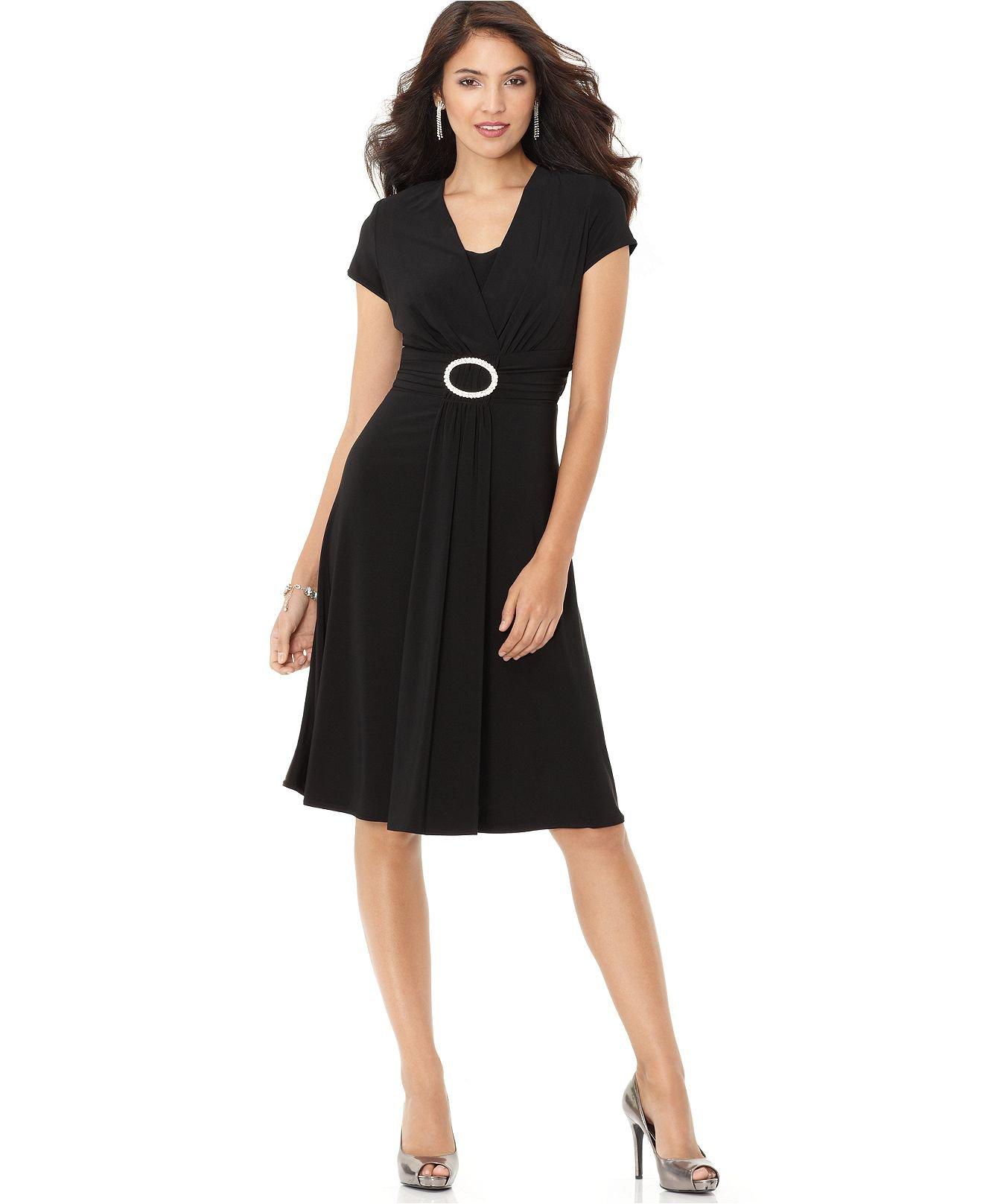 macys womens black dresses photo - 1