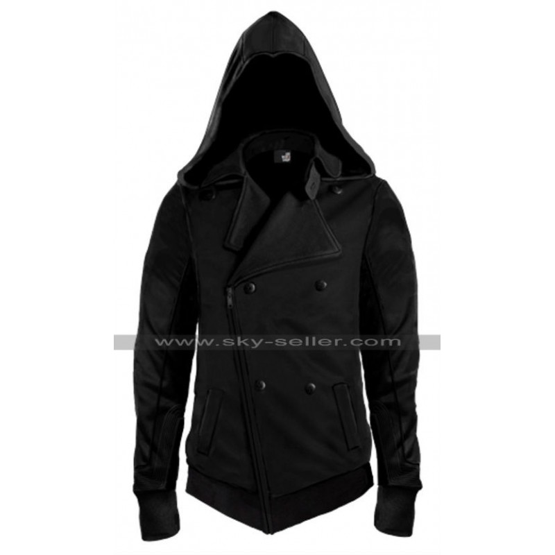 mens assassin style hoodie photo - 1
