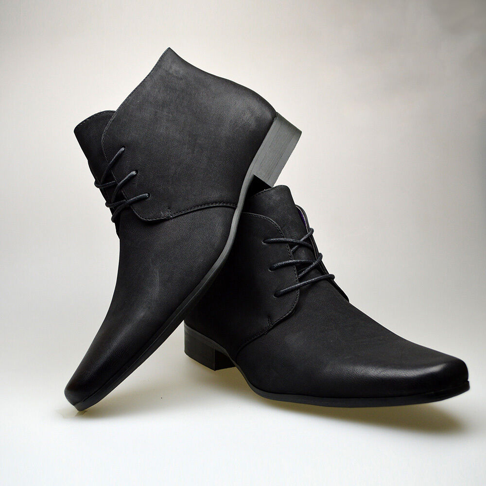 mens black casual dress shoes photo - 1