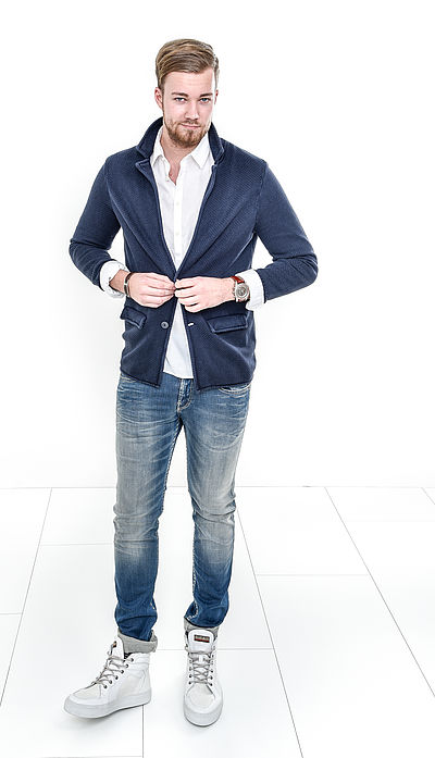 mens business casual jeans photo - 1