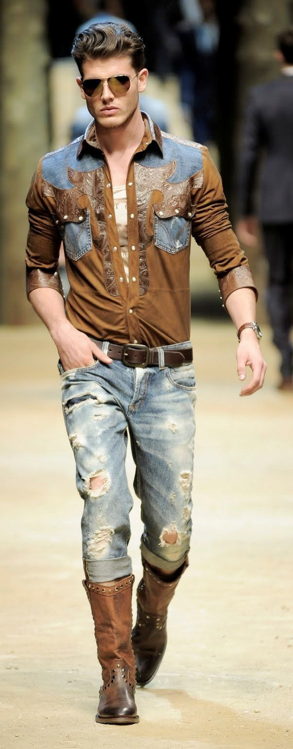 mens cowboy boots style photo - 1