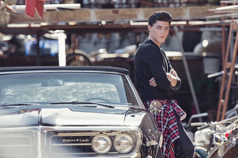 mens greaser style photo - 1