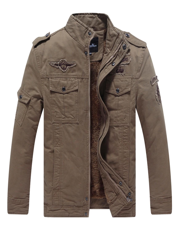 mens military style winter jacket photo - 1