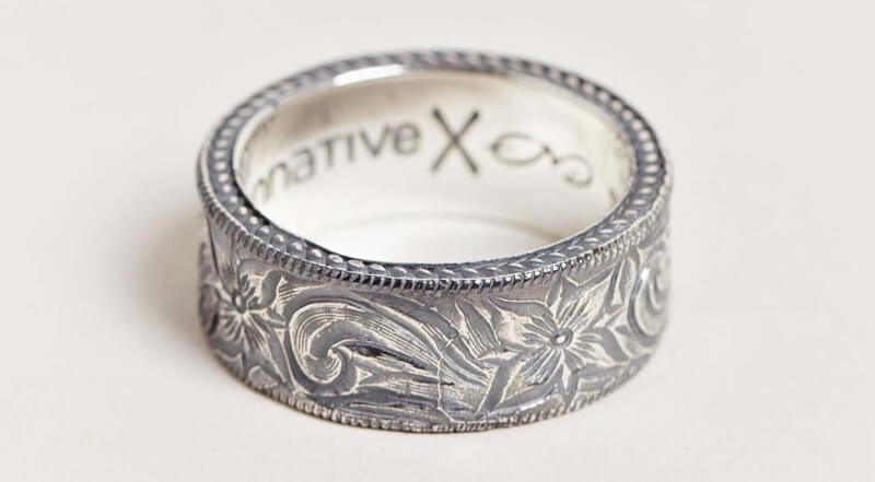 mens western style wedding bands photo - 1