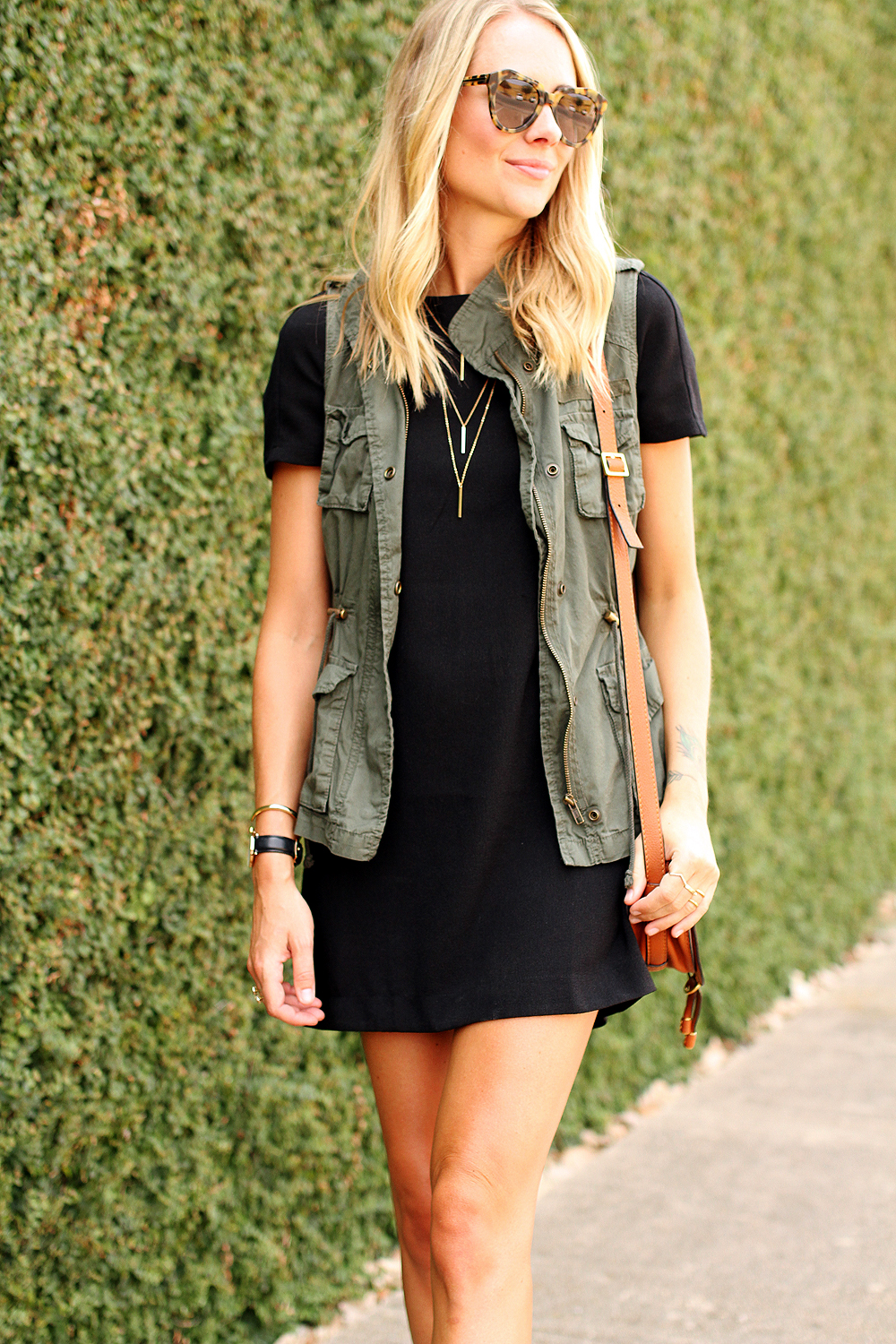 olive casual dress photo - 1