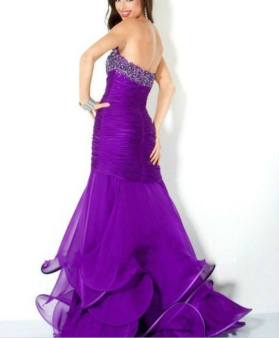 purple dress casual photo - 1
