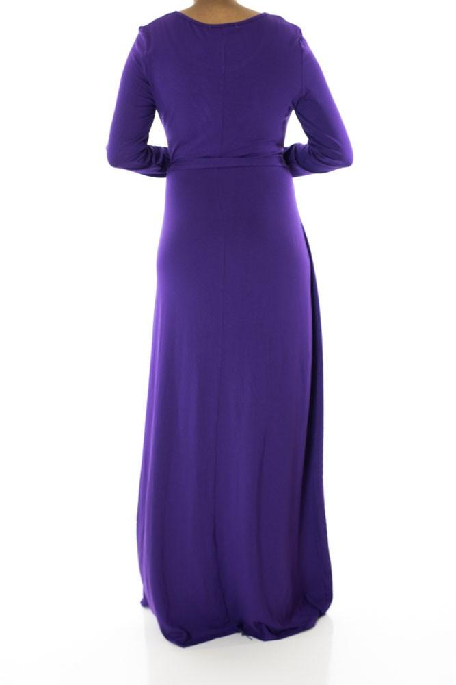 purple maxi dress casual photo - 1