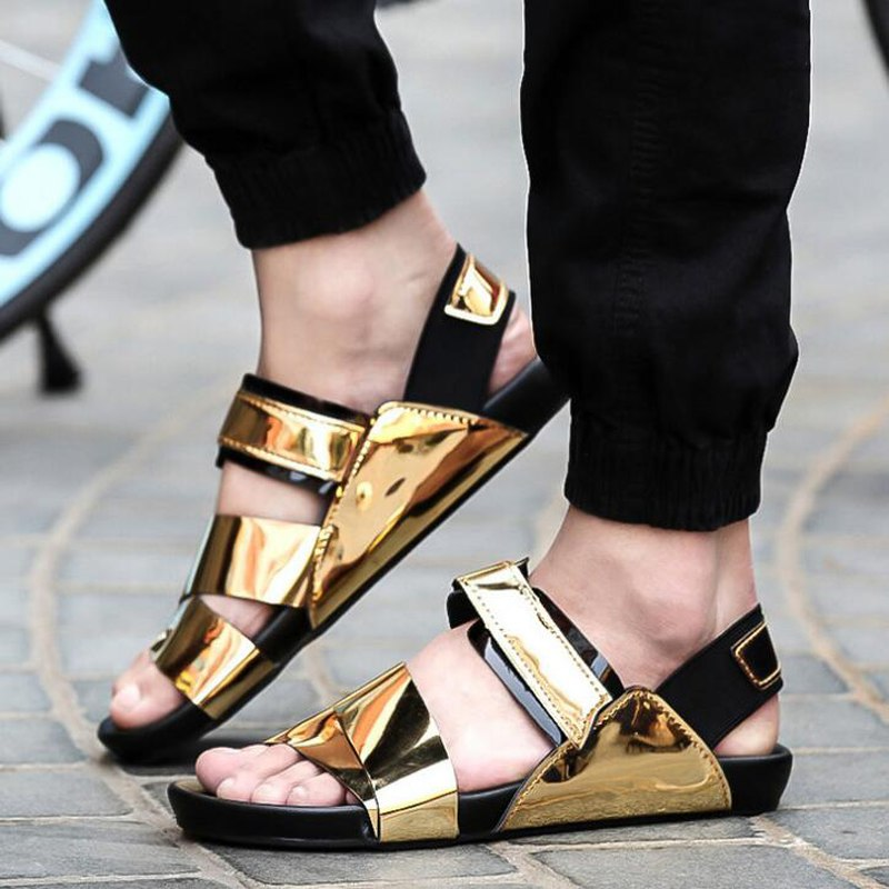 roman style sandals for mens photo - 1