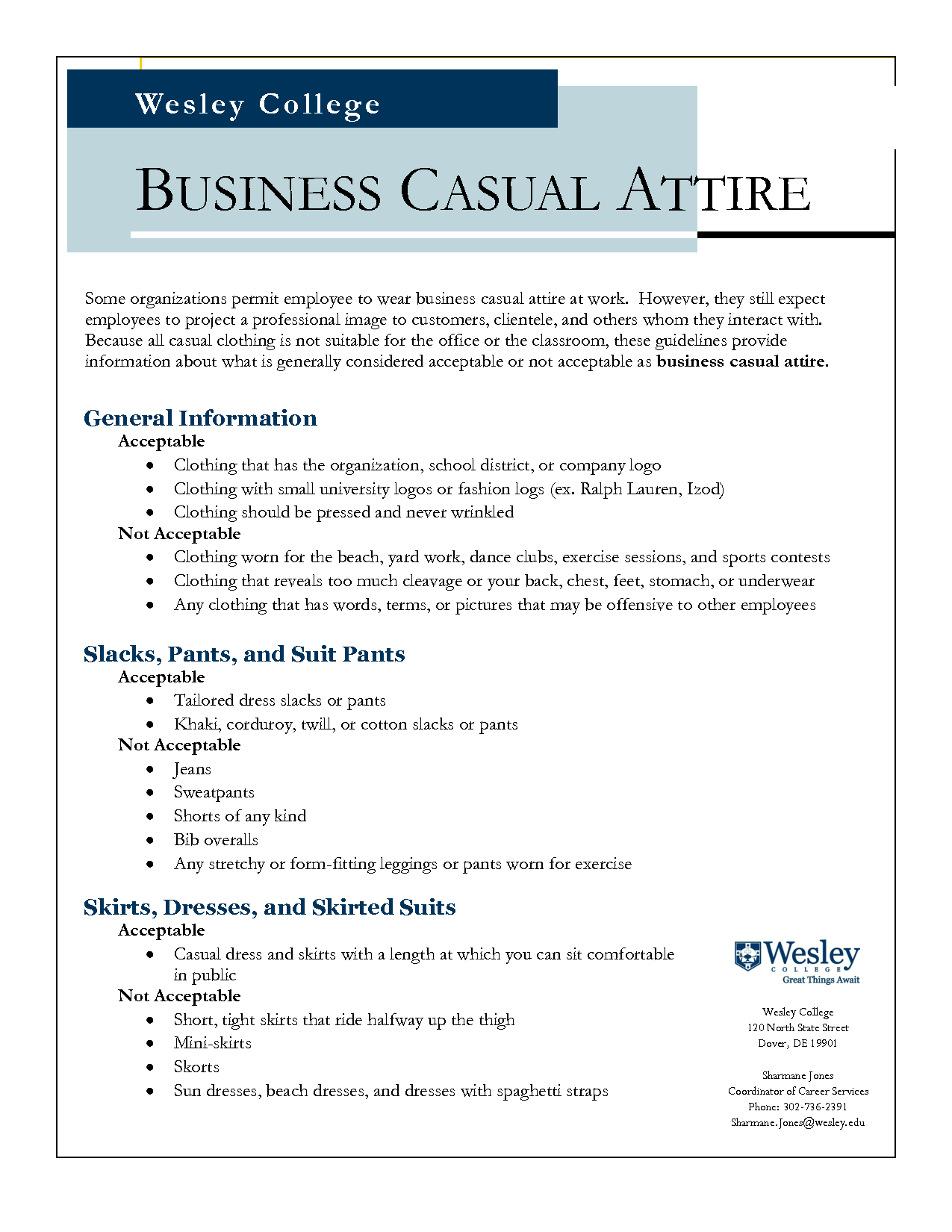 sample dress code policy business casual photo - 1