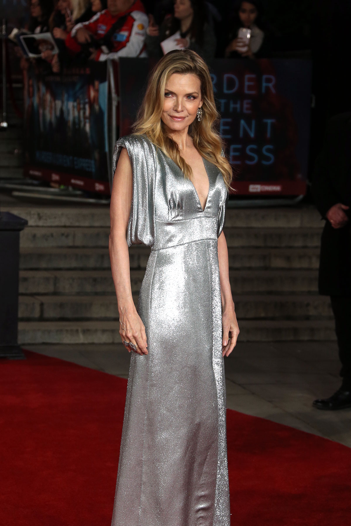 silver casual dress photo - 1