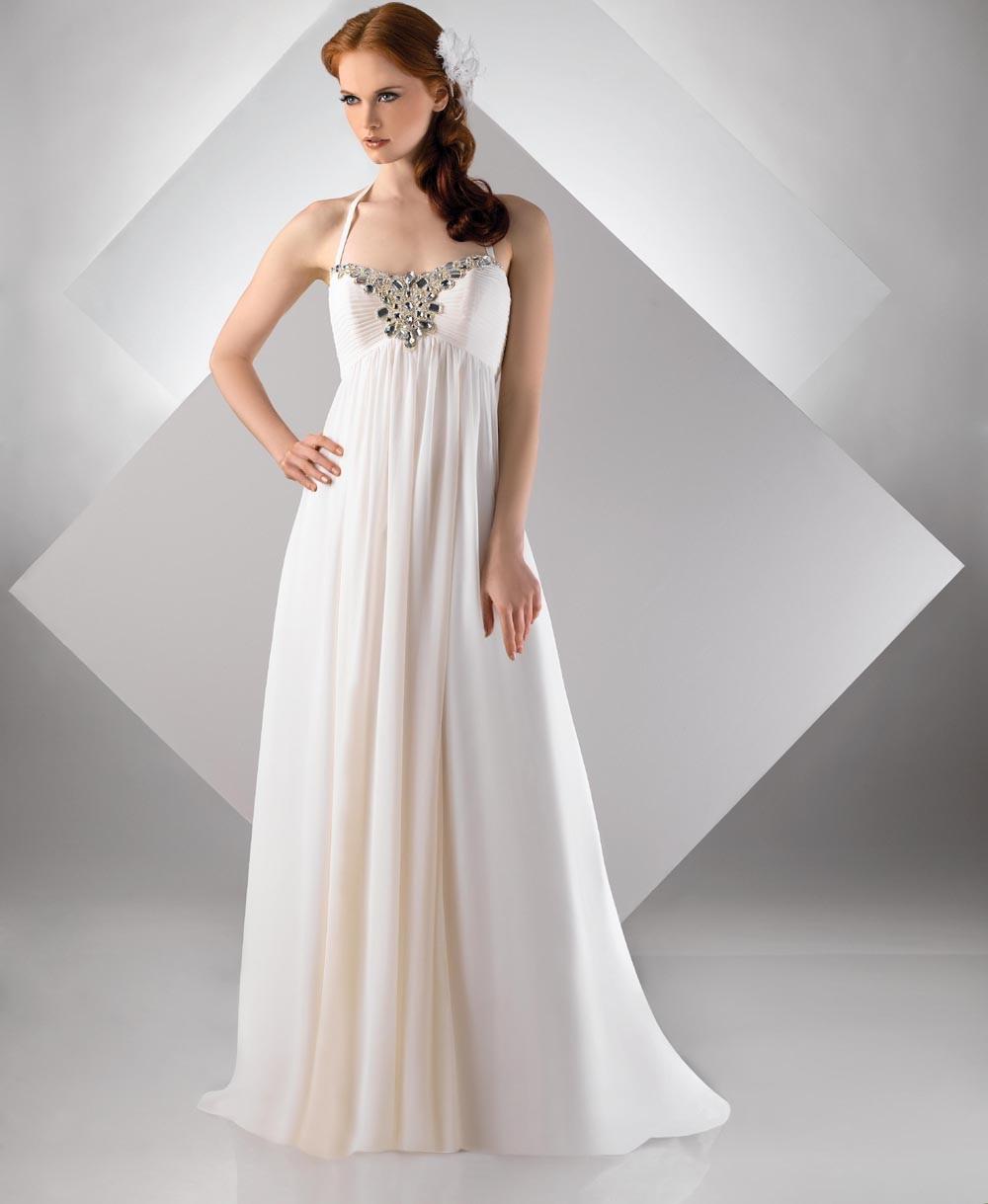 simple casual wedding dress photo - 1