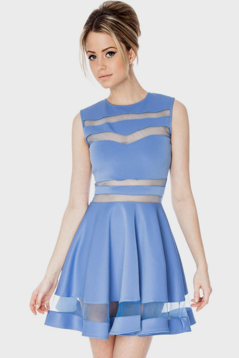 sky blue casual dress photo - 1