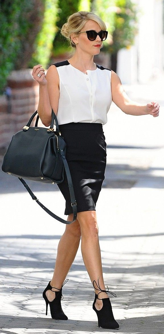 white business casual dress photo - 1