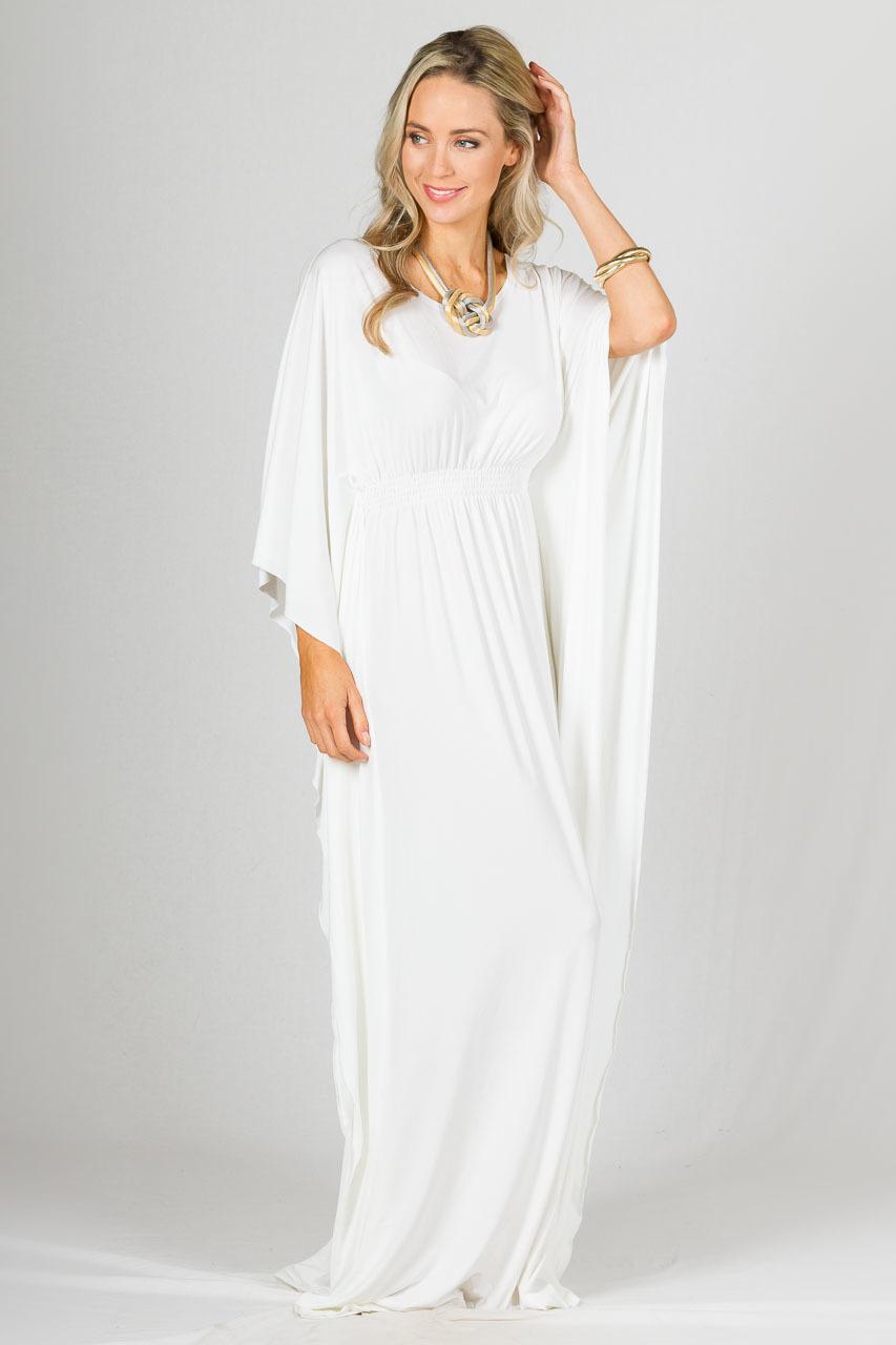 white flowy dress casual photo - 1