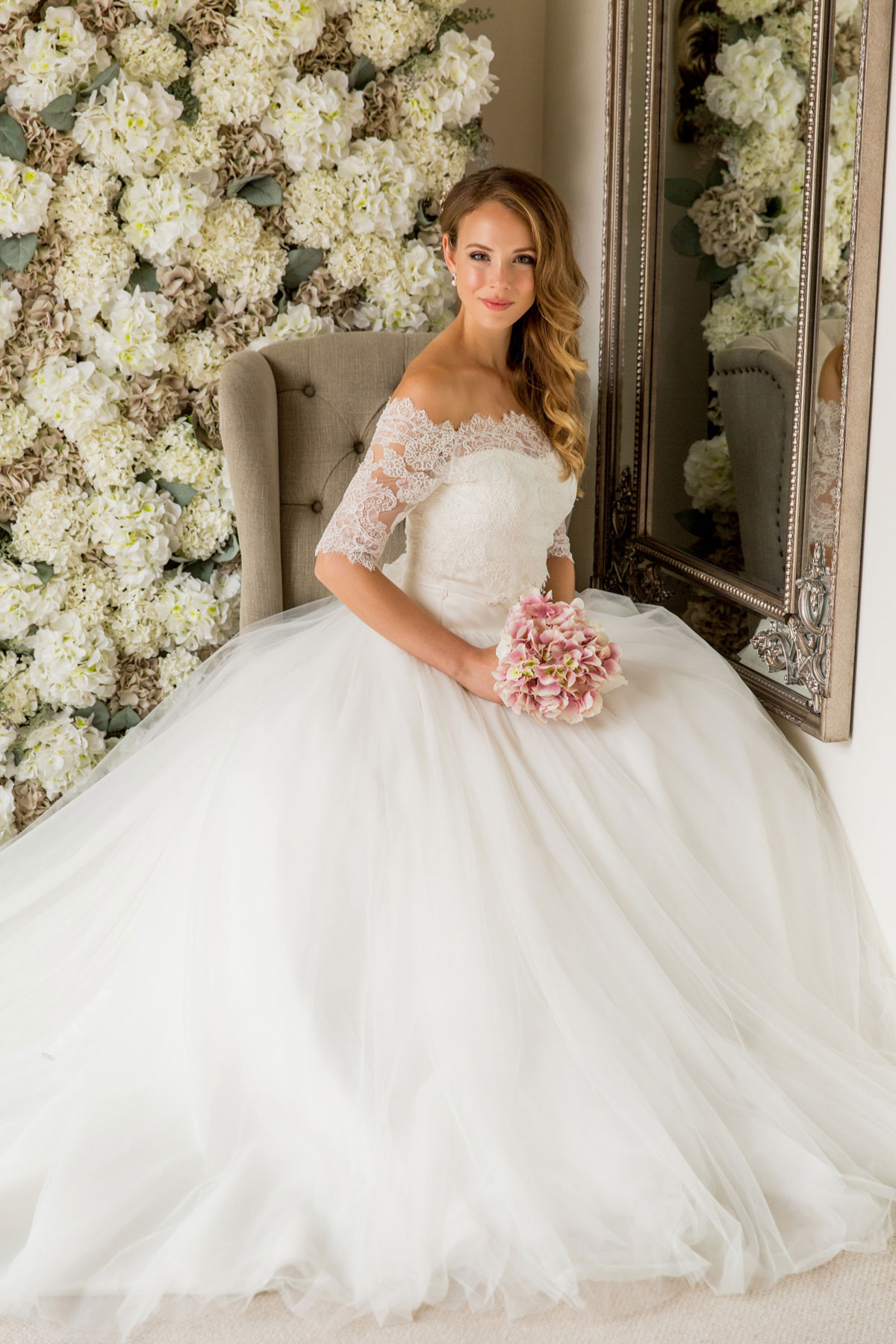 white lace casual wedding dress photo - 1