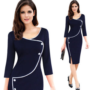 womens business casual dress photo - 1